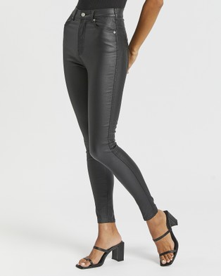 Dr Denim Moxy Jeans - High-Waisted (Black Metal)
