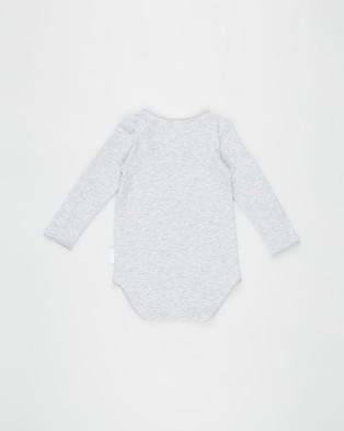 Bonds Baby Wonderbodies Long Sleeve Bodysuit 2 Pack   Babies - Bodysuits (Black Grey)