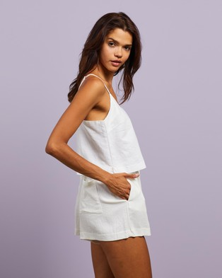Nude Lucy Drew Linen Cami  - Tops (White)