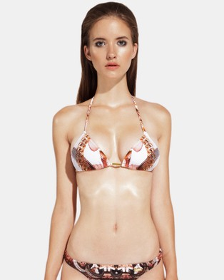 Look Z – White Orchid Triangle Bikini Top White