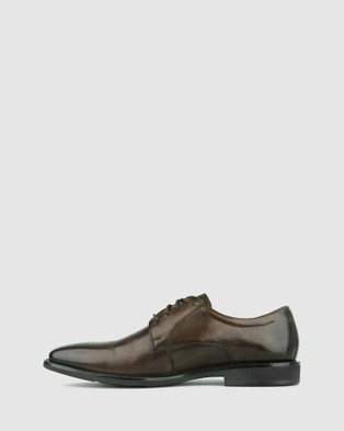 Airflex Duke Leather Derby Dress Shoes - Dress Shoes (Chocolate)