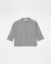Outfit Kids - Long Sleeve Embroidered Boxy Shirt - Kids