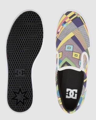 DC Shoes Womens Trase Slip On Flaform Shoe - Slip-On Sneakers (Black Multi)