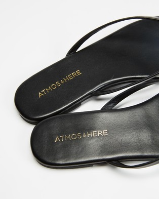 Atmos&Here Palm Leather Thongs - All thongs (Black Leather)