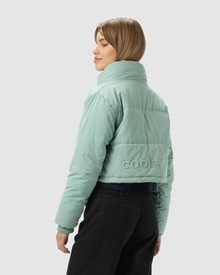 Cools Club Cropped Puff Club Jacket - Coats & Jackets (Blue)