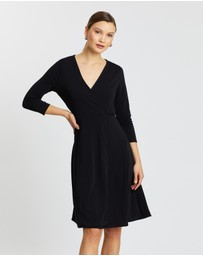 Banana Republic - Long Sleeve Matte Jersey Wrap Dress