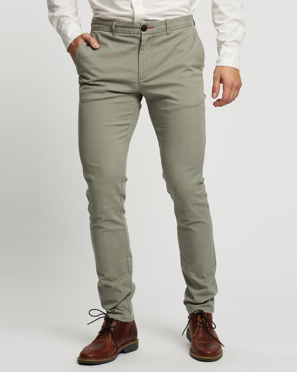3 Wise Men Charlie Chinos Pants Grey
