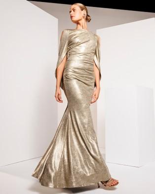 Montique Lana Metallic Gown - Bodycon Dresses (Gold)