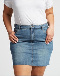 Cotton On Curve - Denim Skirt