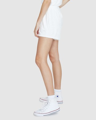 Subtitled Finley Terry Towling Shorts - Shorts (WHITE)