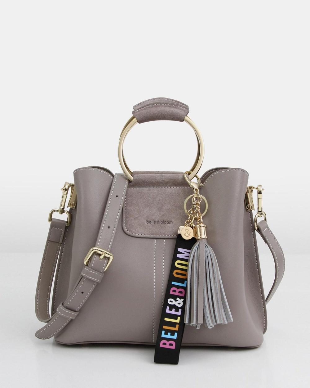 Belle & Bloom Twilight Leather Cross Body Bag Bags Grey Cross-Body