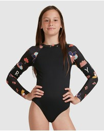 Roxy - Girls 8-14 Riding Time Long Sleeve UPF 50 One Piece Rashguard