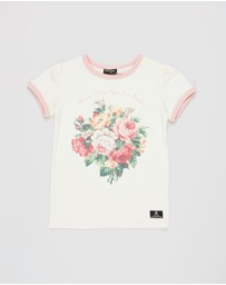 Rock Your Kid - French Bloom SS Ringer T-Shirt - Kids