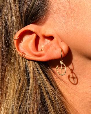 Aletheia & Phos Shield Of Athena Earrings - Jewellery (Gold)