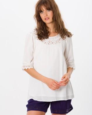 Kaja Clothing – Jocelyn Top – Tops (White)