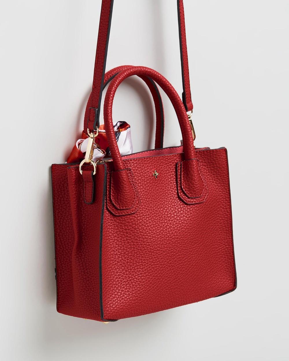PETA AND JAIN Hunter Mini Tote Bag Handbags Red
