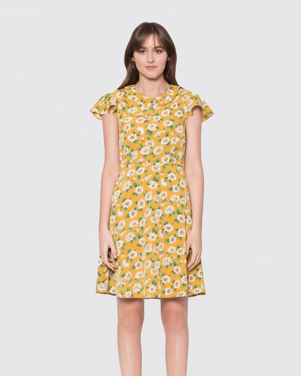 Dangerfield Yellow Miss Daisy Dress