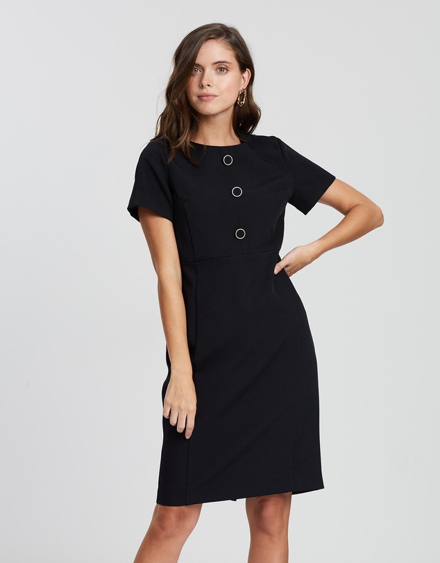 DP Petite - Button Dress