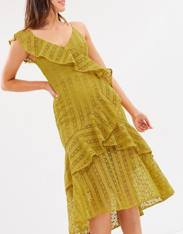 Cooper St - Oasis One Shoulder Frill Lace Dress