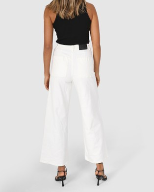 BY.DYLN Remi Jeans - Mom Jeans (White)