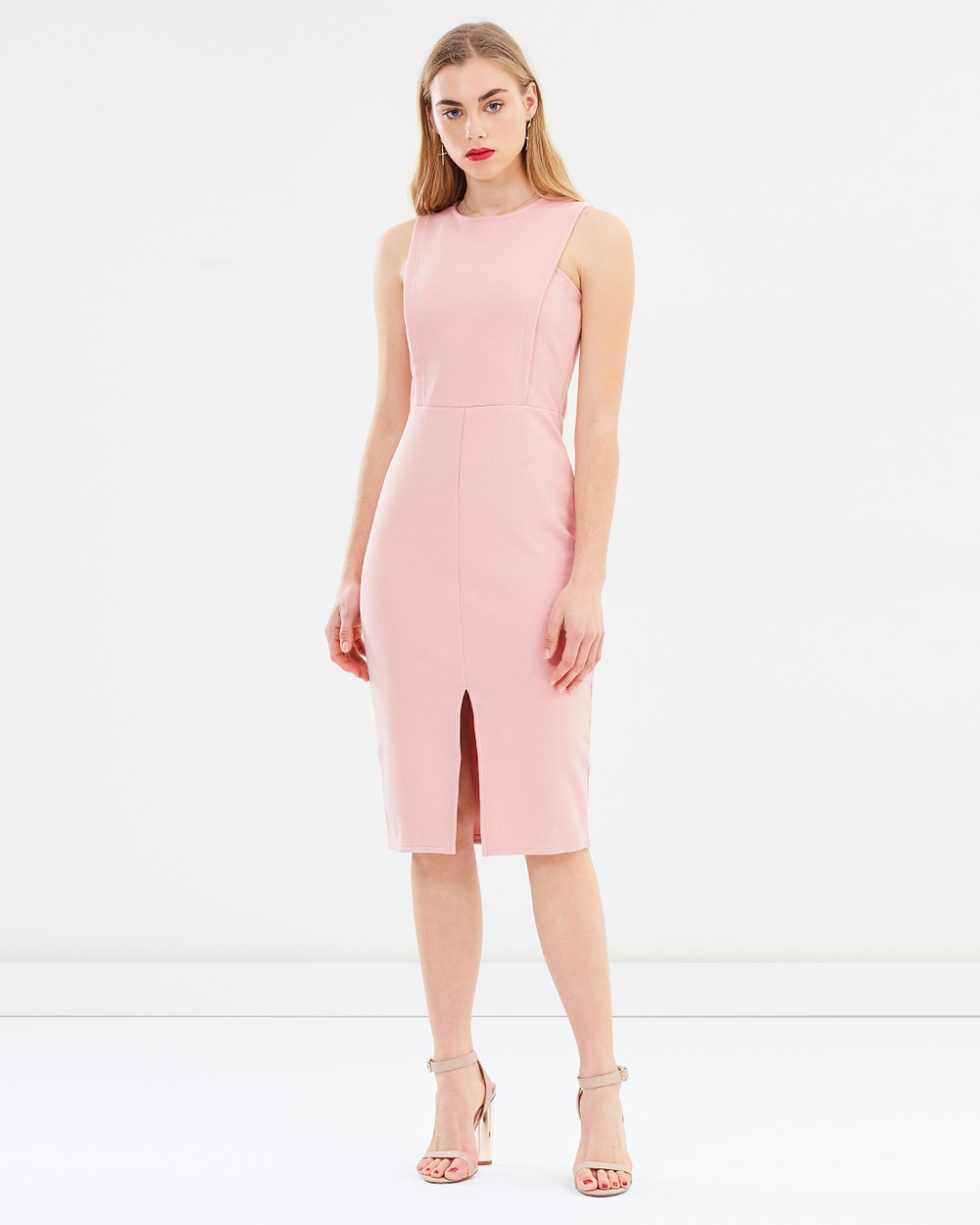 Miss Selfridge Square Front Body Con Dress Bodycon Dresses Pink Square Front Body-Con Dress
