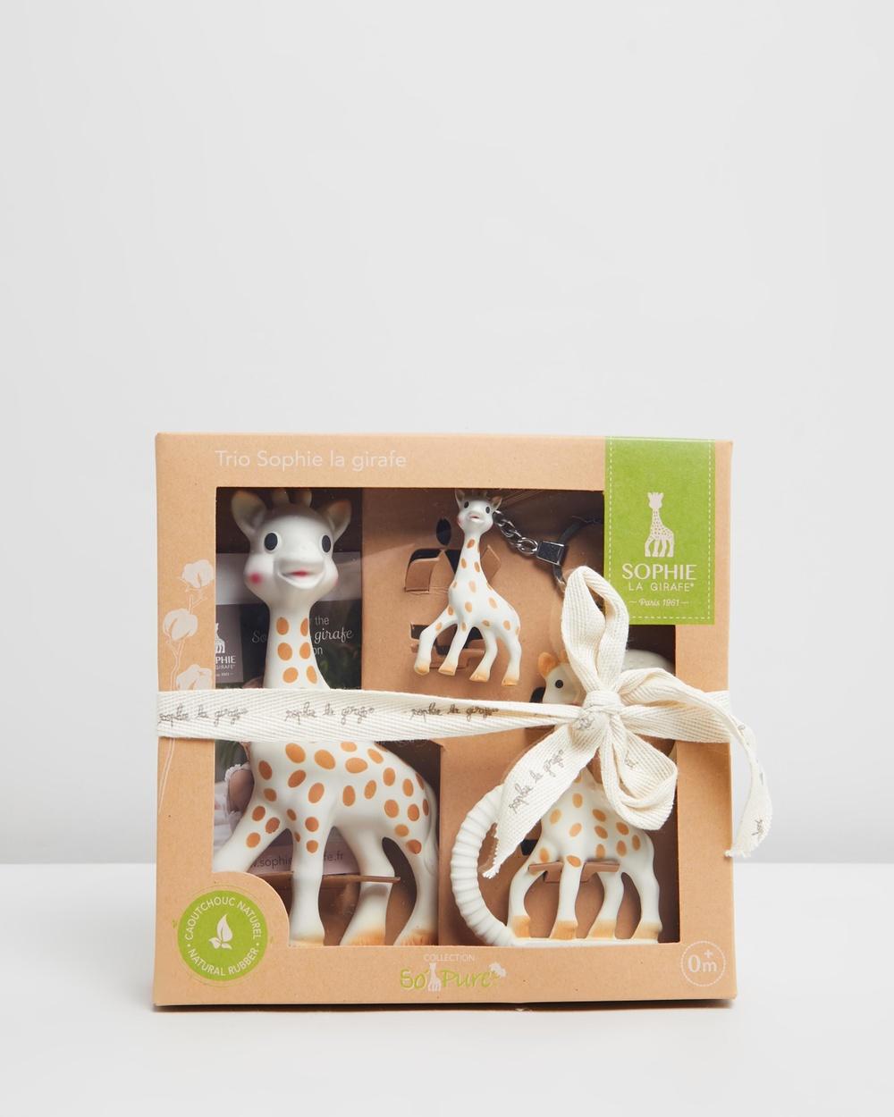 Sophie the Giraffe Toy Trio Babies Multi