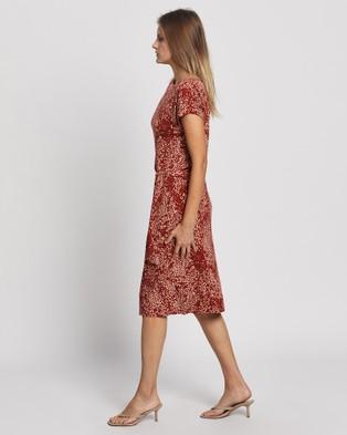 David Lawrence Celeste Jersey Wrap Dress - Dresses (MULTI)
