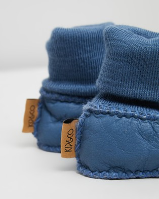 Kip&Co Sheepskin Booties - Socks (Blue Skies)
