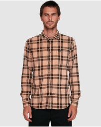 RVCA - Villains Plaid Long Sleeve Shirt
