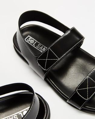 Sol Sana ICONIC EXCLUSIVE   Elsa Wedge - Wedges (Black & Black)