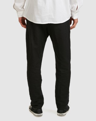 Quiksilver Mens Originals Pleated Tapered Trousers - Pants (Black)