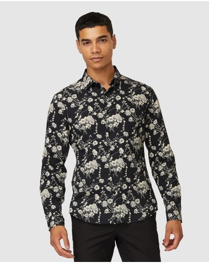 Jack London - Cam Black Floral Shirt