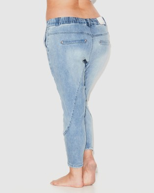 17 Sundays Search & Destroy Drop Crotch Jeans - High-Waisted (Ice Blue)