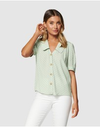 Forever New - Melinda Button Through Collar Blouse