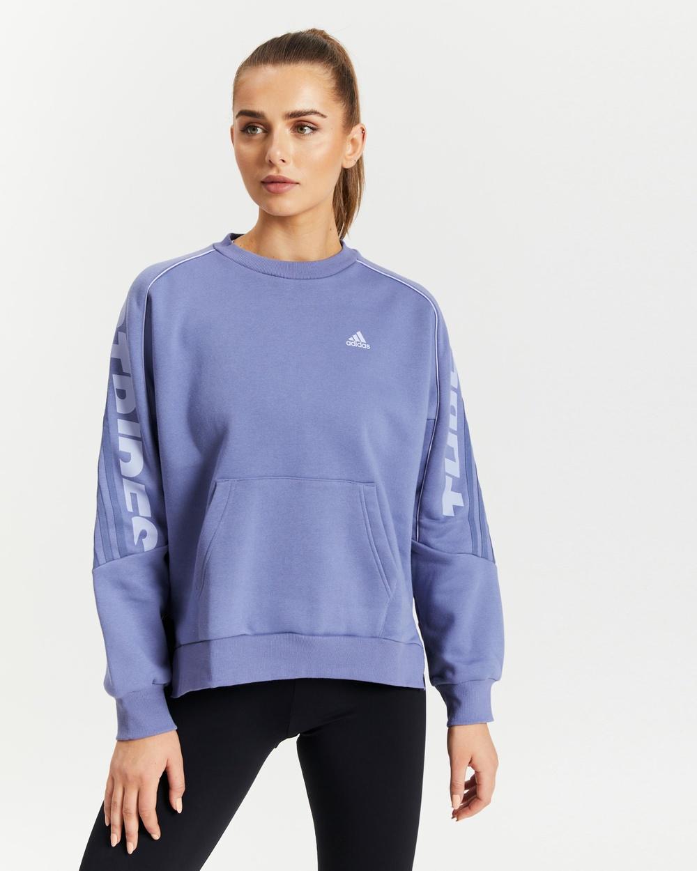 adidas Performance Sportswear Sweatshirt Crew Necks Orbit Violet