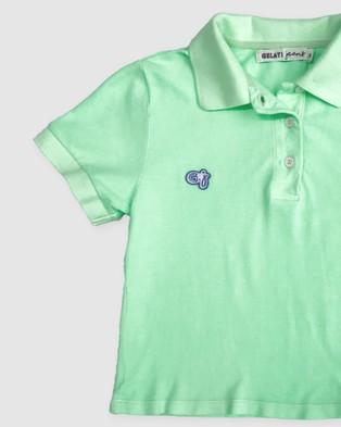 Gelati Jeans Kids Spearmint Polo Shirt Casual shirts Green