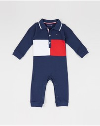 Tommy Hilfiger Kids - Flag Polo Coverall - Babies