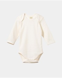 Nature Baby - LS Pointelle Bodysuit - Babies