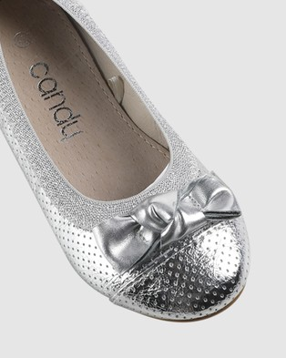 Candy Charm Ballet Flats - Flats (Silver)