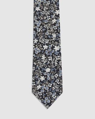 Buckle Vintage Tie & Pocket Square Set - Ties (Flora)