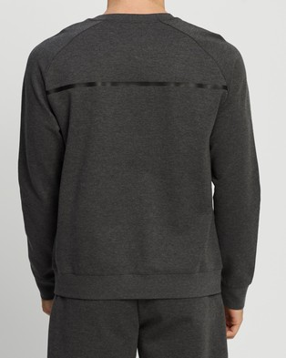2XU Commute Crew - Crew Necks (Charcoal Marle & Black)