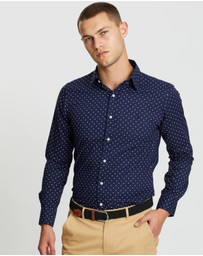 Polo Ralph Lauren - Long Sleeve Dot Printed Poplin Sport Shirt