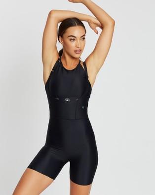 MORE BODY Companion Rectus Short Bodysuit - 1/2 Tights (Black)