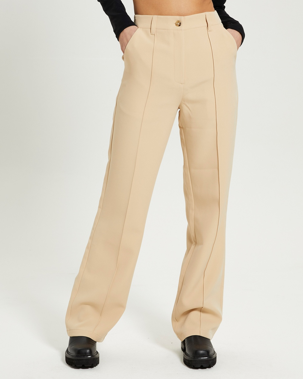 Alice In The Eve Edie Pintuck Party Pants STONE