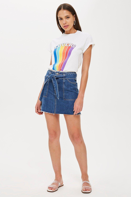 a3b59a97b9 Denim Utility Skirt by TOPSHOP Online | THE ICONIC | Australia
