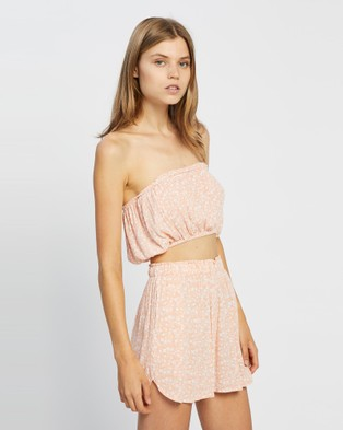Barefoot Blonde - Coco Tube Top Cropped tops (Peach)