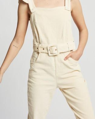 LENNI the label Lykke Jumpsuit - Jumpsuits & Playsuits (Beige Cord)