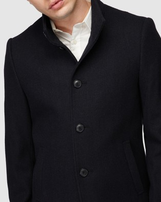 Jack London Manchester Navy Coat - Coats & Jackets (Blue)