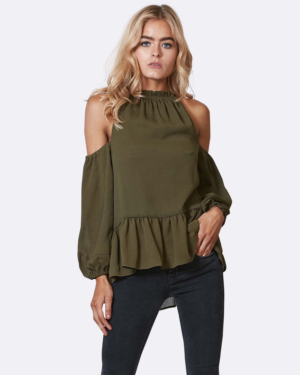 Three of Something Prosperous Blouse Tops KHAKI Prosperous Blouse