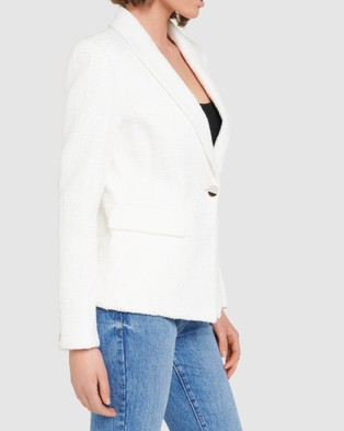 Forever New Piper Boucle Jacket - Coats & Jackets (Porcelain)